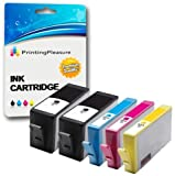Printing Pleasure 5 (1 SET + 1 BLACK) Compatible Printer Ink Cartridges for HP Deskjet 3070A 3520 Officejet 4610 4620 Photosmart 5510 5515 5520 6510 6520 B110a B209a B210a | Replacement for HP 364XL