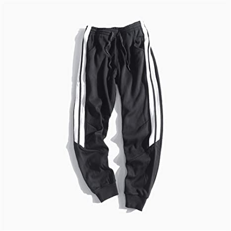 Pantalones de chándal Jogger para hombre Stitching Plus Velvet ...