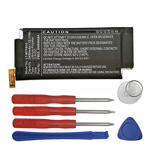 Swark New Replacement FB55 SNN5958A Battery Compatible with Motorola XT1585 Droid Turbo 2 XT1581 3450mAh with Tools