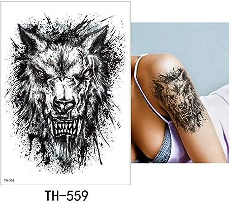 adgkitb Etiqueta engomada del Tatuaje Temporal 3pcs Lion TH-559 ...