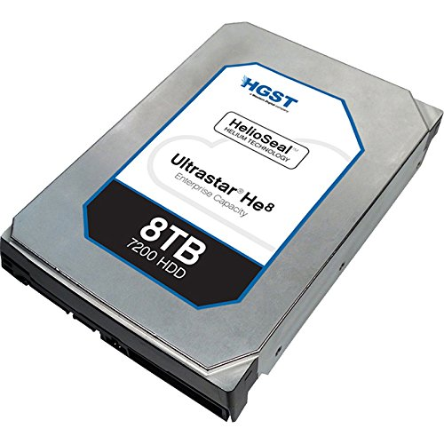 HGST Ultrastar He8 | HUH728080ALN600 | 0F23662 |  8TB 7200 RPM 128MB Cache SATA 6.0Gb/s 3.5'' Helium Platform Enterprise Hard Drive Bare Drive by Generic