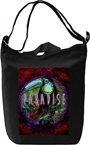 Paradise Borsa Giornaliera Canvas Canvas Day Bag| 100% Premium Cotton Canvas| DTG Printing|