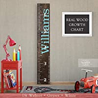 Wooden Kids Growth Height Chart Ruler for Boys and Girls Painted (The Williams) by Back40Life - Express Edition