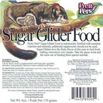 Pets Sugar Pretty Glider - Pretty Bird International Sugar Glider Food for Birds, 12-Ounce