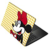 Skinit Minnie Mouse Asus X502CA 15.6 Skin - Minnie Mouse Yellow Dots Design - Ultra Thin, Lightweight Vinyl Decal Protection
