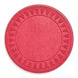 Weather Guard Round Christmas Tree Skirt Mat Protects Against Slips and Spills (Red)