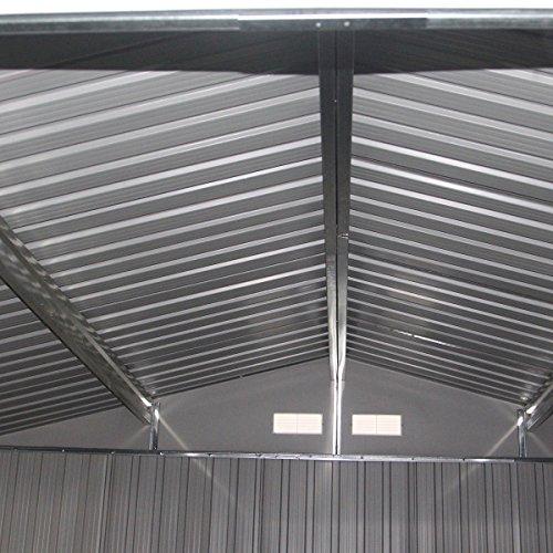 9' X 6' Outdoor Garden Storage Shed Tool House Sliding Door Steel Khaki New by tamsun (Image #6)