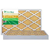 FilterBuy 15x25x1 MERV 11 Pleated AC Furnace Air Filter, (Pack of 4 Filters), 15x25x1 – Gold