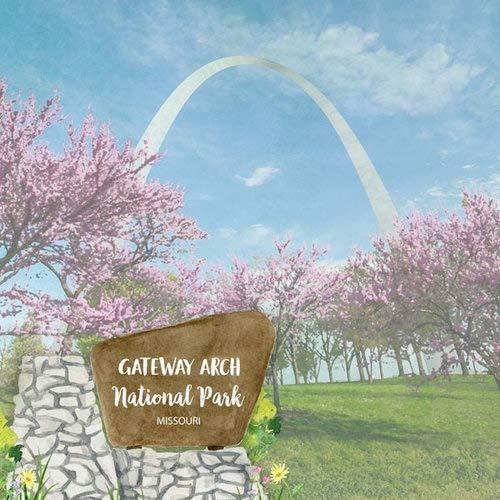 - Scrapbook Customs 39087 Gateway Arch National Park Watercolor Missouri 12 Inch x 12 Inch Double-Sided Scrapbook Paper - 1 Sheet