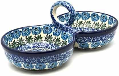 Polish Pottery Bowl - Double Serving - Antique Rose