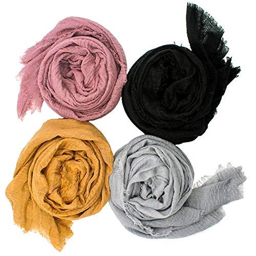 4Pcs Women Soft Cotton Hemp...