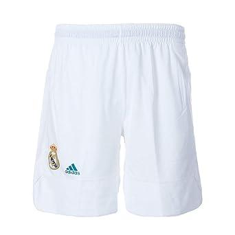 adidas RM Pantalón Corto Línea Real Madrid FC, Hombre, Blanco, XL ...
