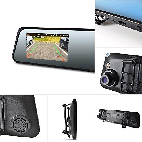 pyle dash cam car recorder dual dvr inch monitor blackbox rear view camera 1080p hd video. Black Bedroom Furniture Sets. Home Design Ideas