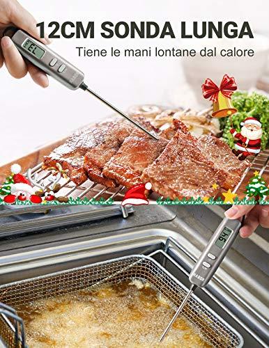 Habor Termometro Cucina Digitale, 5S Lettura Instantanea Auto-Off Termometro da Cucina per Carne, BBQ, Vino, Latte… 3