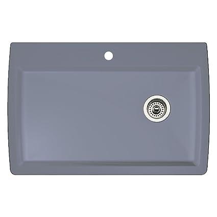 Exceptionnel Blanco 440193 Diamond Super Single Bowl Kitchen Sink, Metallic Gray Finish