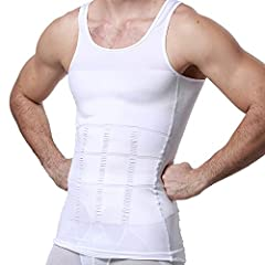 GKVK - Quality Enhances LifeOverview: GKVK 107 is the new generation body shaper for men. Gynecomastia compression shirt to hide man boobs moobs slimming mens shapewear. This vest is designed for compression to make you look thinner and slimm...