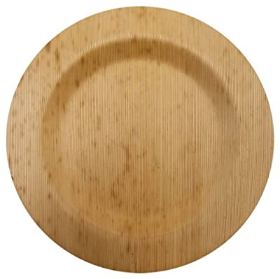 Bamboo Studios 6-Inch Round Plate, 8-Pack, Natural