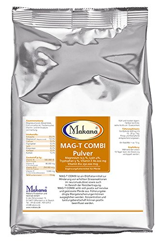 Makana MAG-T COMBI Magnesium Vitamin E Tryptophan Lysin Pulver 1er Pack (1 x 1 kg)