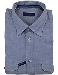 Zegna Sport Blue Cotton Casual Button Down Slim Fit Shirt Size XXXL