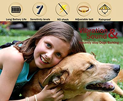 MASBRIL Dog Bark Collar - Upgrade 2018 Safe No Bark Control Device for Tiny Small Medium Dog-Stop Barking by Sound and Vibration- No Shock Human Way-Best Choice for Dog Lovers