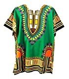 Traditional Thailand Style Dashiki - Available in Several Color Combinations (Green)XL