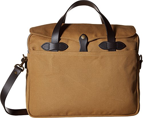 Filson Original Briefcase - Best For Business / Travel - Stylish Bag For Laptops, Tablets, And Books - Strong Twill, Quality Made - Lightweight Computer Brief