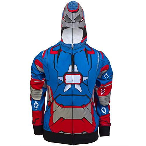 Iron Man - Patriot I Am Juvy Costume Zip Hoodie Sweatshirt juvy 7 (Iron Man Couples Costume)