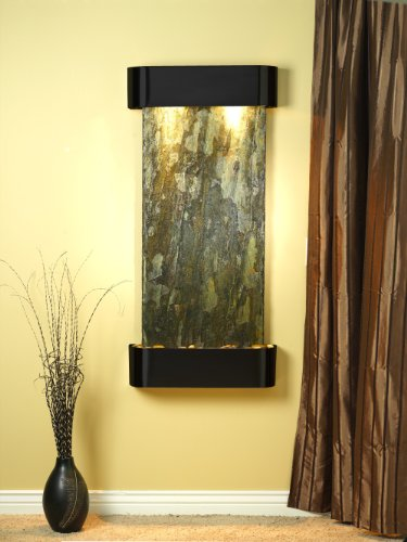 Adagio Cascade Springs Fountain w/Green Natural Slate in Blackened Copper Finish