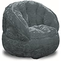 Heritage Kids Toddler Rabbit Fur Bean Bag Chair, Grey