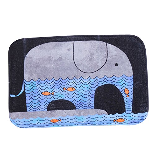 Dearhouse Nonslip Vintage Elephant Fish Cartoon Flannel