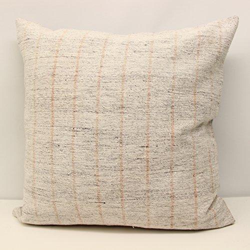 Handmade Kilim Cushion - Throw kilim pillow cover 24x24 inch (60x60 cm) Huge Kilim pillow cover Room Decor Rustic Pillow cover Ethnic Kilim Cushion Cover
