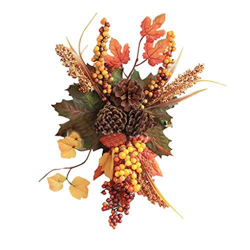 Nesee Halloween Decoration Cutting Door Hanging Festival Rattan Ornament for Thanksgiving Halloween Christmas Birthday Gift Autumn Indoor Outdoor Parties Home Bedroom Decoration (Indoor Porch Decorating)