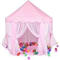 Intime Pink Princess Castle Tent Playhouse for Girls,Kids...