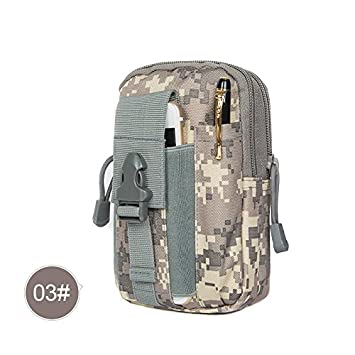 AlexGT Tactical Molle Pouch, EDC Utility Gadget Pouch Waist Belt Bag with Cell Phone Holster Holder Suitable for Running Hiking Camping Outdoor Activities Waterproof Waist Bag