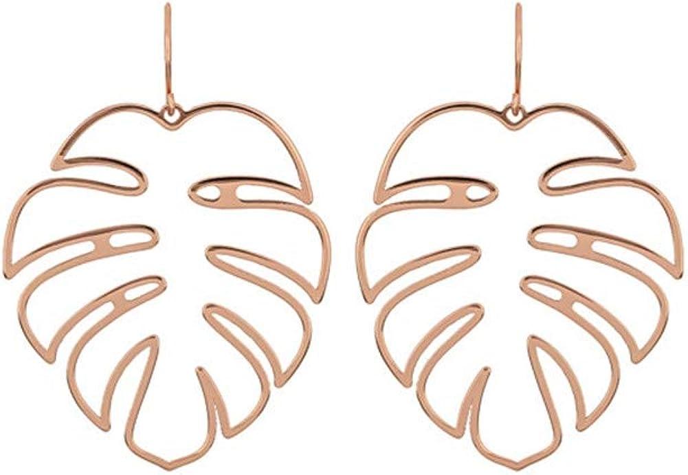 Coconut Palm Leaf Earrings Tropical Monstera Leaf Dangle Drop Earrings for Women Girls Jewelry Decor