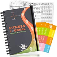 bridawn Workout Nutrition Journal Fitness Planners 2 in 1 Log Book 12 Weeks Tracker with Waterproof Cover Elas