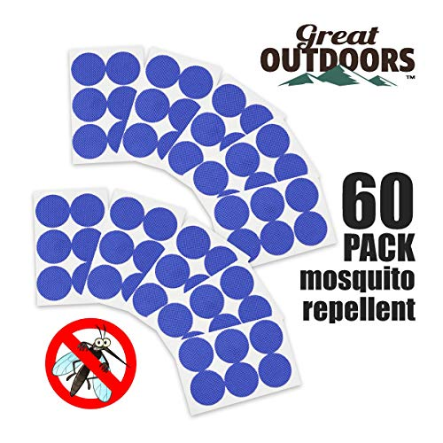 GREAT OUTDOORS TM Natural Mosquito Repellent Patches, Insect Bug Protection up to 24 Hours Bands, Deet-Free Patch,Pest Control Stickers for Kids & Adults, Blue ()