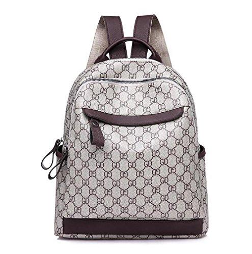 Handbag 33cm 28 function 15 Backpack Leather Multi Women's Bag Casual Fashion Soft pu wUx8R7acq