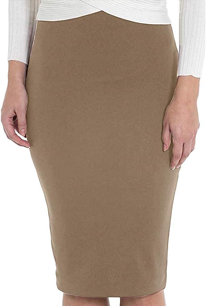 Falda de la Cadera del Color sólido de Las Mujeres Faldas ...