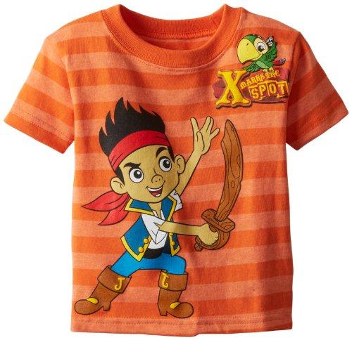 Jake And The Neverland Pirates Shirts (Jake and the Neverland Pirates Little Boys' Striped Toddler T-Shirt, Orange,)