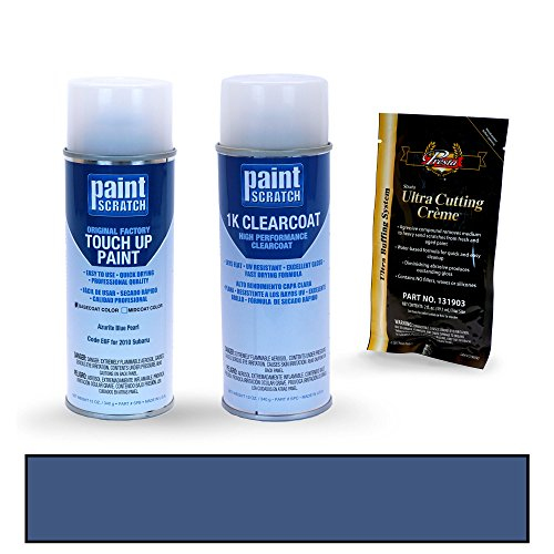 PAINTSCRATCH Azurite Blue Pearl E6F for 2010 Subaru Legacy - Touch Up Paint Spray Can Kit - Original Factory OEM Automotive Paint - Color Match ()
