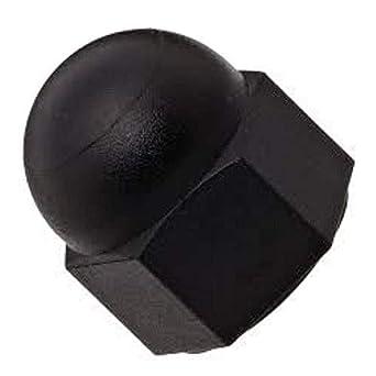 #8-32 Threads Nylon Acorn Nut Pack of 100 Black Right Hand Threads
