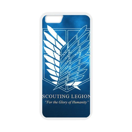 """Fayruz - iPhone 6 Rubber Cases, Attack on Titan Hard Phone Cover for iPhone 6 4.7"""" F-i5G12"""