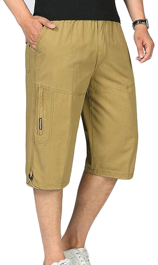 c46b6af2e87 Lutratocro Men s Capri Pants Cozy Classic Cargo Shorts Oversize Cotton  Shorts