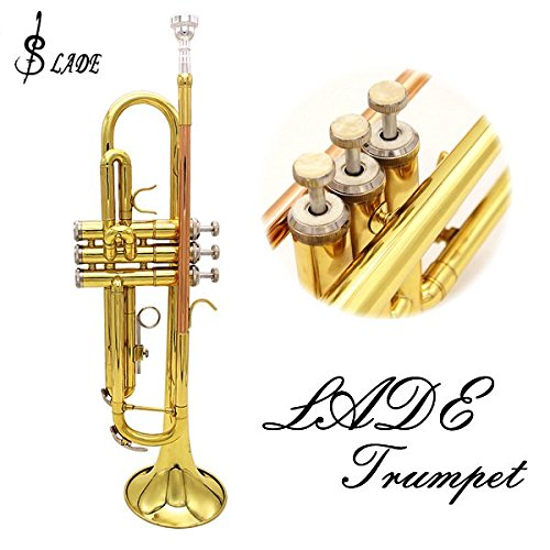 LADE Bb Copper Golden Trumpet Brass Band With Glove Brush Clean Cloth by SOUND HOUSE 31 (Image #1)