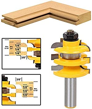 """New 1//2/"""" Shank Rail /& Stile Router Bit Ogee Stacked Woodworking Bearing Cutter"""