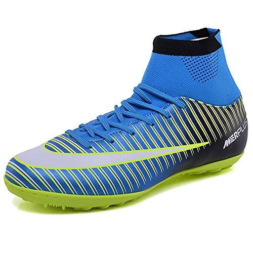 KAMIXIN Football Boots Men's High Top Soccer Training Shoes Kids Football...