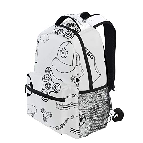 8b9caac4470 KVMV Doodle Spinner Cap Aerosol Paint Ball Lightweight School Backpack  Students College Bag Travel Hiking Camping Bags