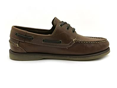 Stone Walk Men's Boat Shoes Brown Brown: Amazon.co.uk: Shoes