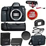 Canon EOS 6D Mark II Wi-Fi Digital SLR Camera Body with BG-E21 Battery Grip Rode + VMGO + Canon 100ES Bag + Warranty For Sale